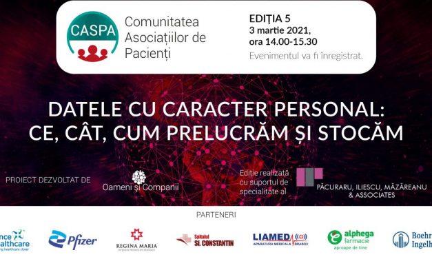 Caspa.ro – Comunitatea Asociațiilor de Pacienți se întâlnește digital pe 3 martie 2021