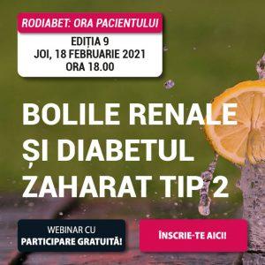 RoDiabet Ora Pacientului: Bolile Renale și Diabetul zaharat tip 2
