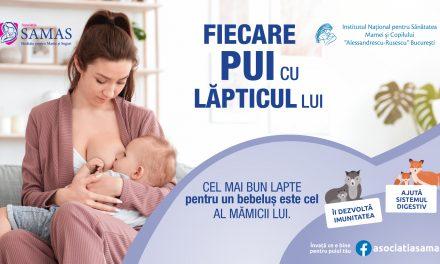 Fiecare pui cu lapticul lui – o campanie pentru nutritia sanatoasa a bebelusului