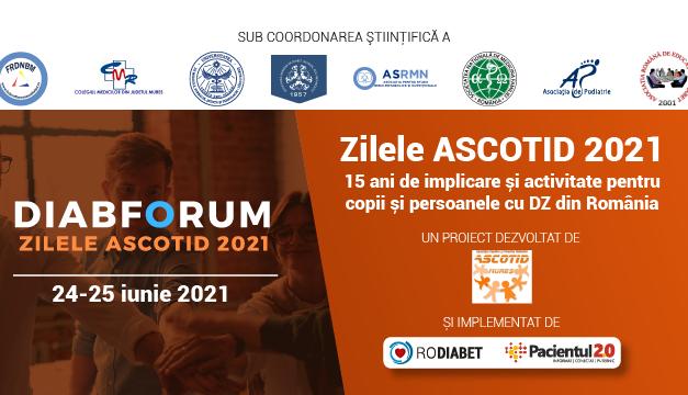 DiabForum: Zilele ASCOTID ediția 2 au loc în perioada 24-25 iunie 2021