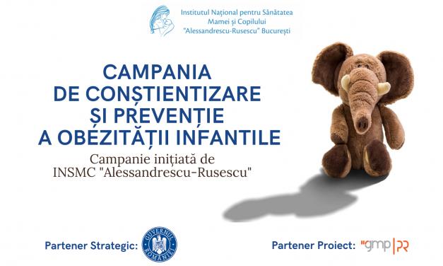 Campanie de conştientizare şi prevenţie a obezităţii infantile, lansată de Institutul Naţional pentru Sănătatea Mamei şi Copilului