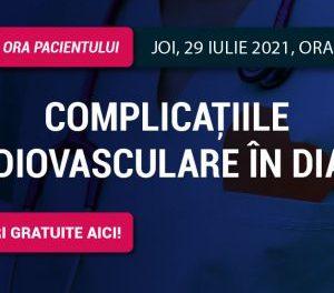 Complicațiile cardiovasculare în diabet: tema întâlnirii comunității RoDiabet de joi, 29 iulie, ora 18.00