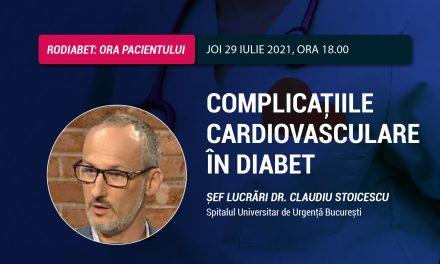 Cardiologul Claudiu Stoicescu, invitatul special al Orei Pacientului RoDiabet din 29 iulie
