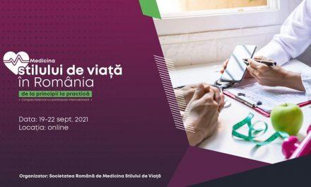 Societatea Română de Medicina Stilului de Viață organizează primul Congres Național cu participare internațională