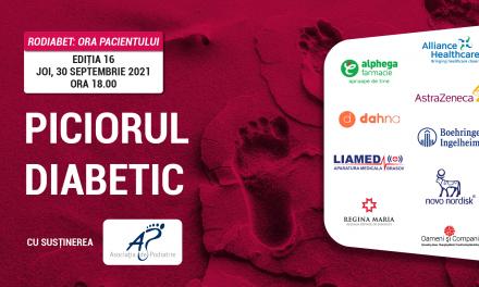 """Astăzi, de la ora 18.00 discutăm despre """"Piciorul Diabetic"""" la Ora Pacientului RoDiabet"""