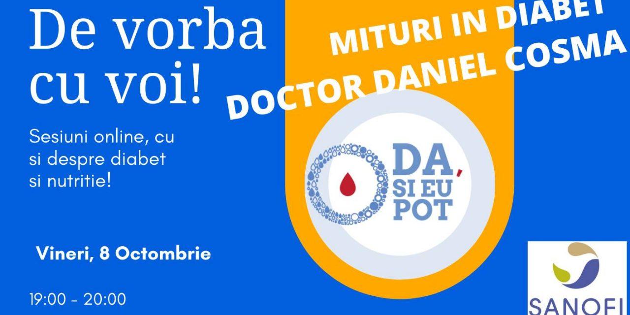 Sesiune online despre diabet și nutriție