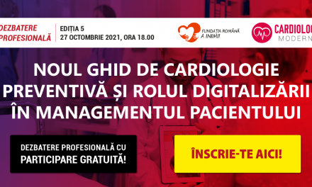 Despre noul ghid de cardiologie preventivă și rolul digitalizării, la întâlnirea CardiologieModerna.ro din 27 octombrie